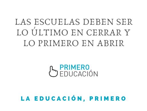 COMUNICADO DE LA RED PRIMERO EDUCACIÓN FRENTE A LA SUSPENSIÓN DE LAS CLASES PRESENCIALES. ABRIL 2021