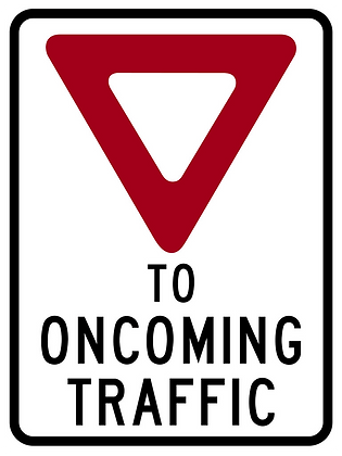 RSHI-RB91 Yield to Oncoming Traffic Sign