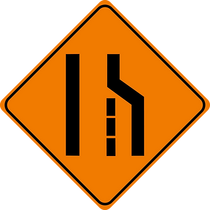 RSDG-103R Right Lane Closed Sign