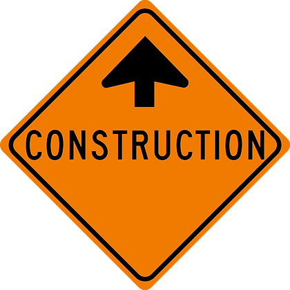 RSDG-TC1 Construction Ahead Sign