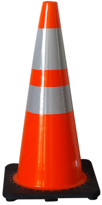 "36"" PVC Cone - Upper and Lower Collars"