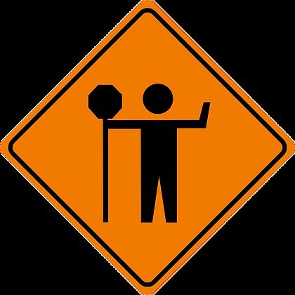 RSDG-TC121 Traffic Control Person Sign