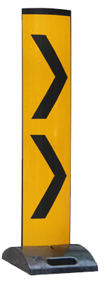 Collapsible Chevron Delineator Panel