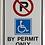 Thumbnail: Handicap Sign