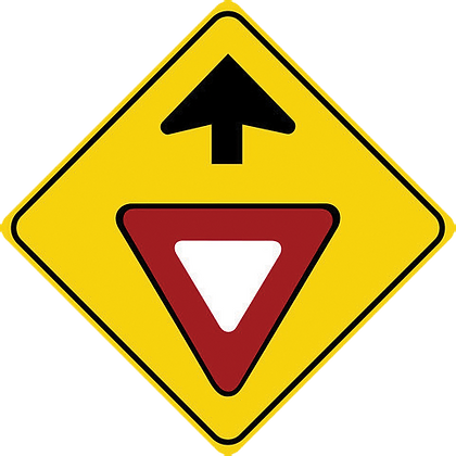RSHI-WB1A Yield Ahead Sign