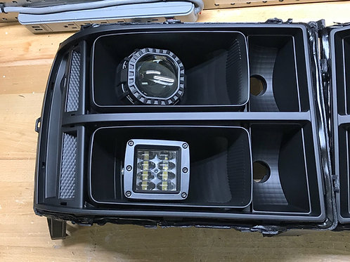 2008-2013 GMC Sierra custom headlights with Projectors and Cubes
