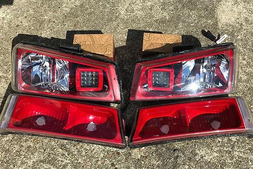 2003-2007 Silverado LED Cube High Beam Headlights