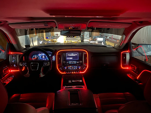 Universal LED Fiber Optic Kit w/ Smartphone App for Cars and Trucks