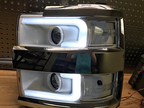 2015-2018 Chevy Silverado HD 2500 3500 Custom Switchback Headlights