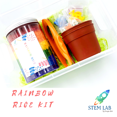 Peek-a-Boo Rainbow Sensory Box