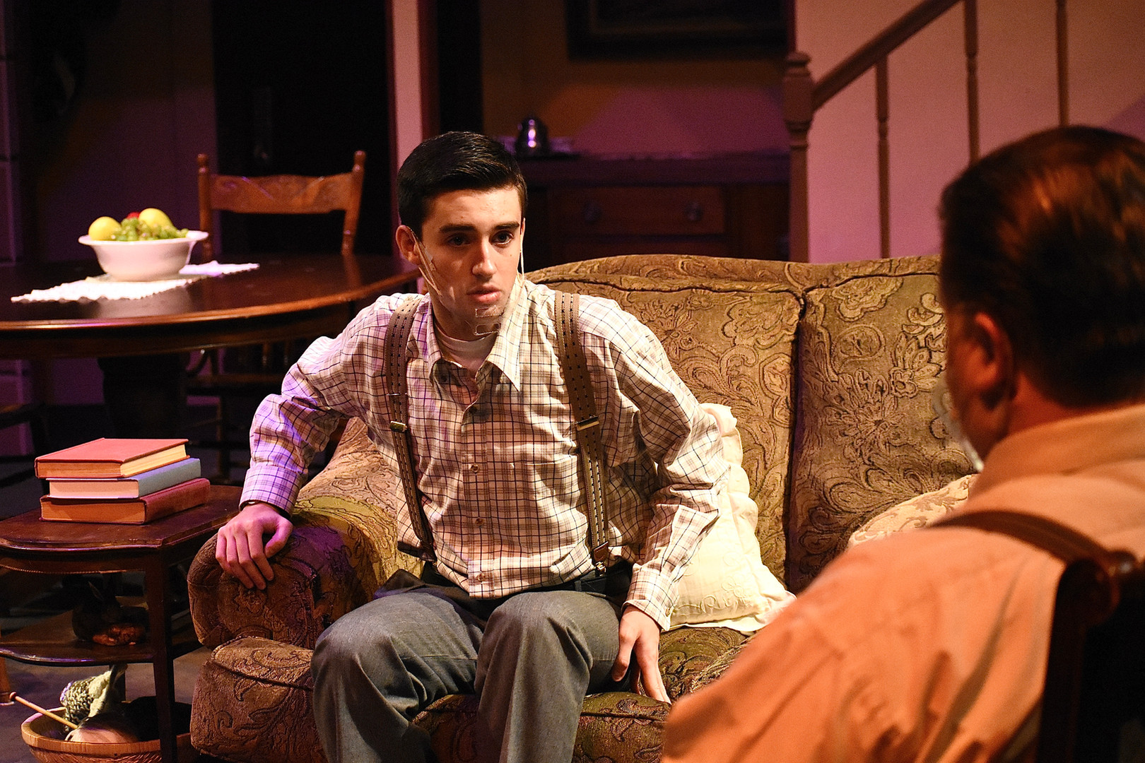 """""""Brighton Beach Memoirs."""" Community Theatre Leage, Williamsport, PA. 2020 Director: Jonathan Hetler Costume Design: William A Young Chase Bower as Stanley"""