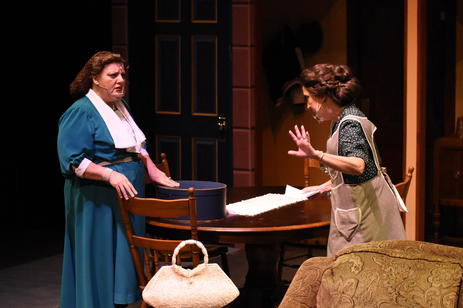 """""""Brighton Beach Memoirs."""" Community Theatre Leage, Williamsport, PA. 2020 Director: Jonathan Hetler Costume Design: William A Young (Left to Right) Samantha Storm as Blanche, Marie"""
