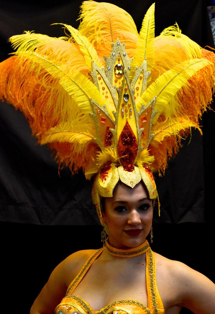 "Canary Headdress for ""Gimme Love"""