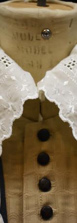 Detail: Falling Band Collar Mitre