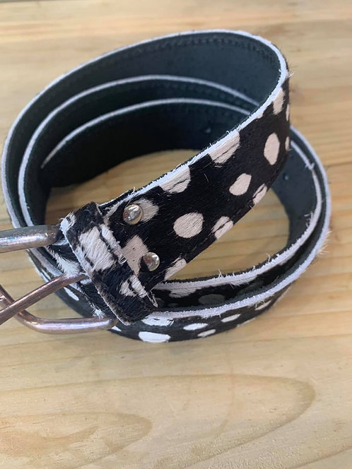 Spotted Leather belts - Pattern cow hide