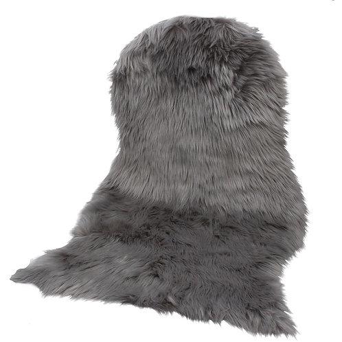 Faux Fur Rug  - Grey