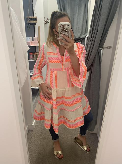 Pink/orange Aztec tunic