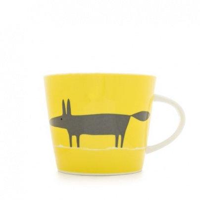 Mr Fox - Yellow & Charcoal