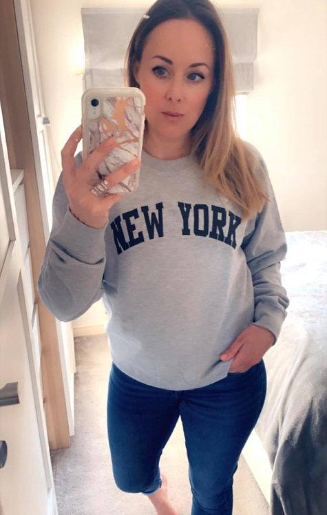NEW YORK SWEATER- grey marl.