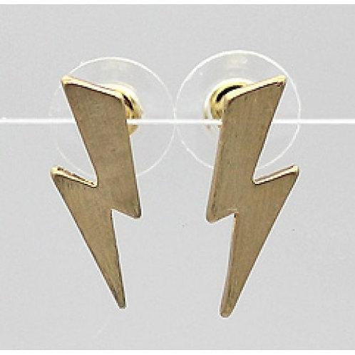 Brushed metal lightening bolts  - gold colour
