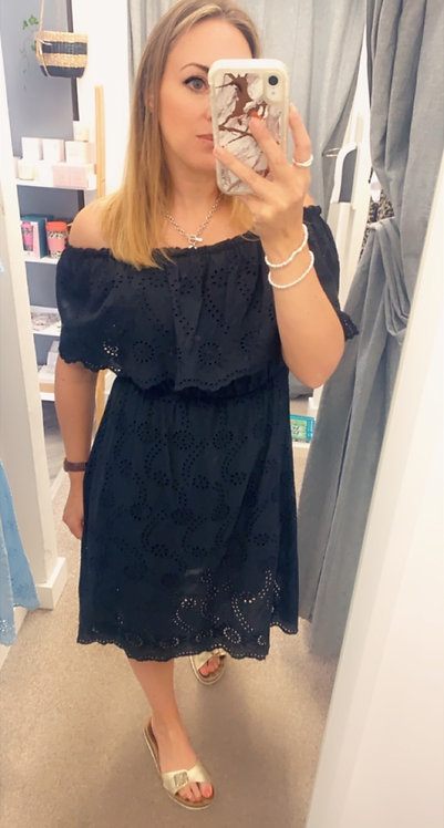 Borderie  Bardot dress x3 cols