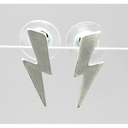 Brushed metal lightening bolts  - Silver colour