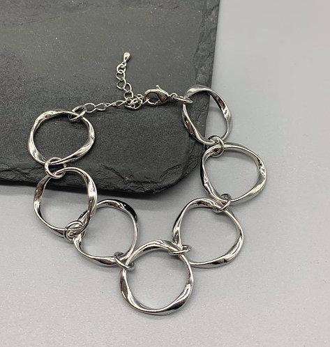 Large chain link Bracelet-Silver