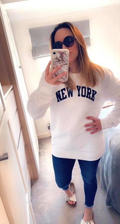 NEW YORK SWEATER-White.