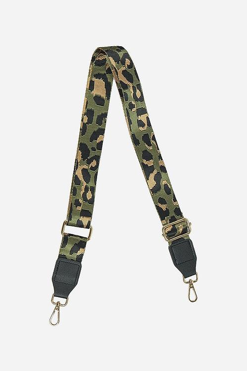 Khaki mix abstract leo- Bag Strap