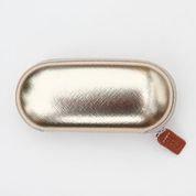 Gold Metallic Glasses Case