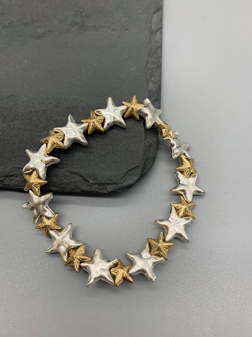 Gold and Silver star Bracelet