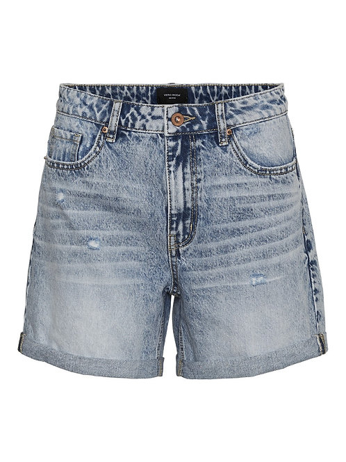 HW RELAXED FIT -ACID WASH SHORTS