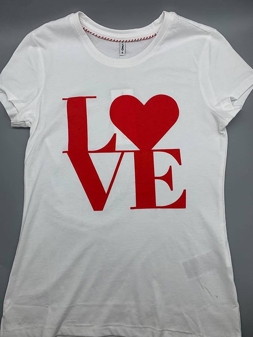 LOVE -Life T-shirt. white