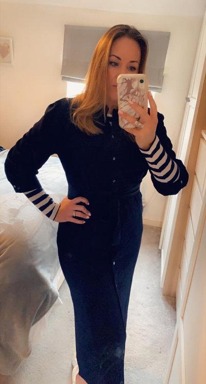 Nova 3/4 shirt dress - Navy