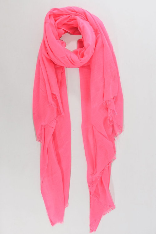 Neon Pink Plain Woven