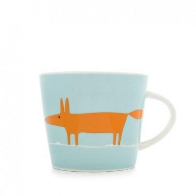 Mug Mr Fox - Duckegg & Orange