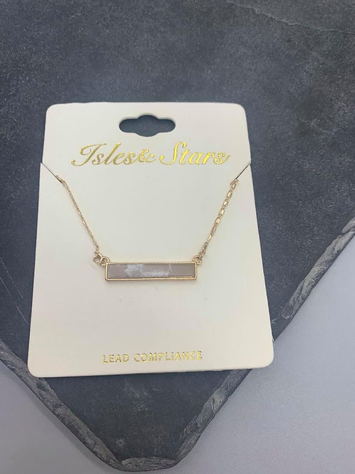 coloured stone necklace- Gold