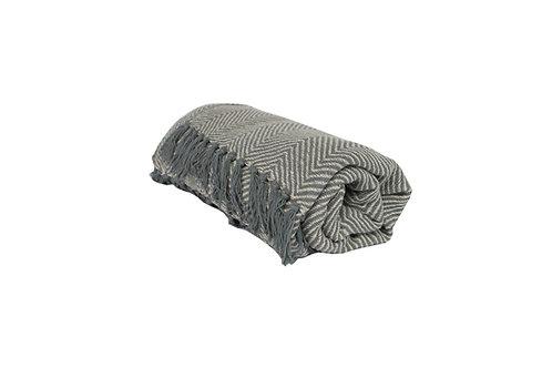 Grey Chevron Blanket