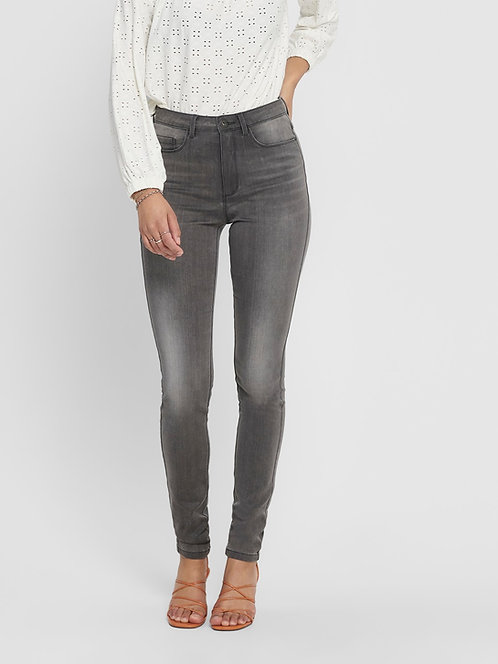 GREY-Skinny fit High Waisted jean