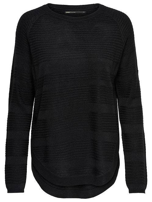 Black Ribbed patterned Knit