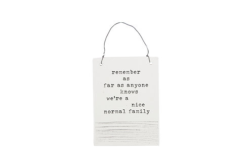 Normal family ~Wall hanging