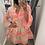 Thumbnail: Pink/orange Aztec tunic