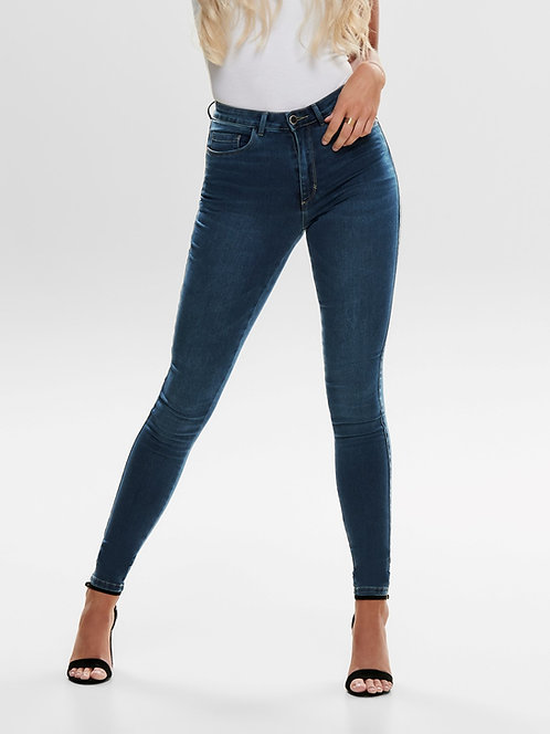 Mid Blue- Skinny fit High Waisted jean