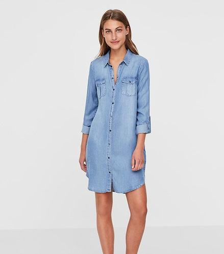 SILLA LS SHIRT DRESS-