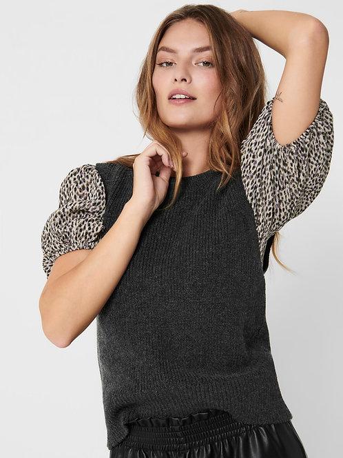 Paris Knitted Vest Top -Dk Grey