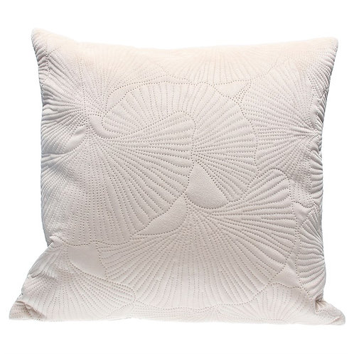 Ivory Quilted ginkgo Velvet