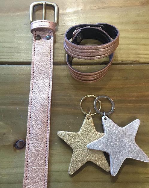 Metallic - Leather belts