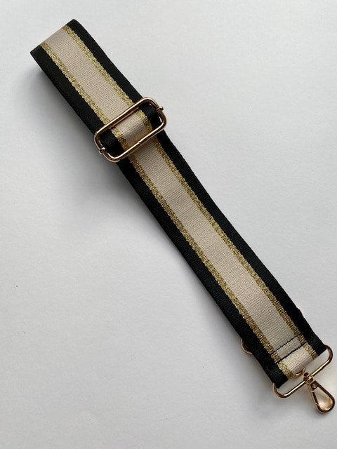 Beige, black gold Met - Bag Strap