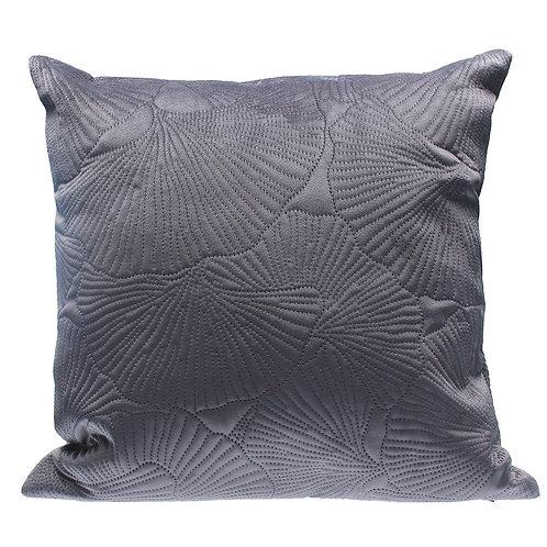 Grey Quilted ginkgo Velvet