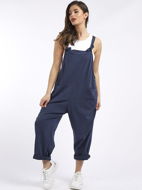 Cotton dungarees -Navy